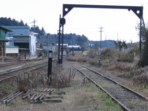 常陸小川駅構内の様子