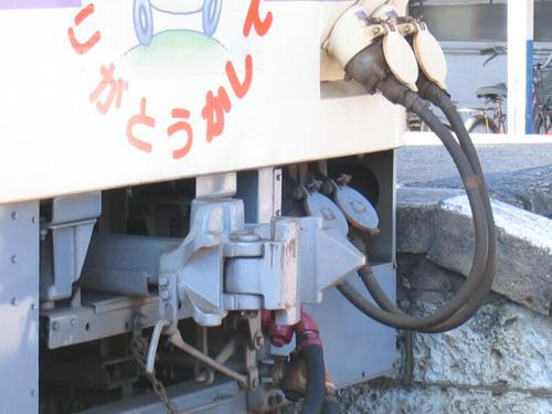 KR-500形(501)の連結器とジャンパ栓まわり