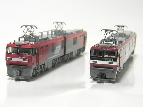 KATOのEH500・3次型とTOMIXのEH500・2次型(その2)