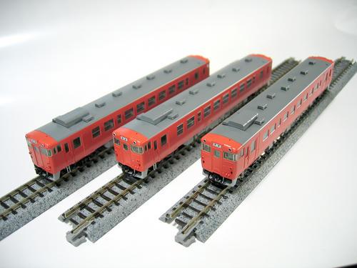 TOMIX:キハ40(左から2000番台・500番台・100番台)
