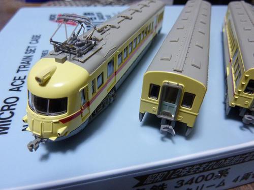 マイクロエース:名鉄3400系(ストロークリーム)・その1