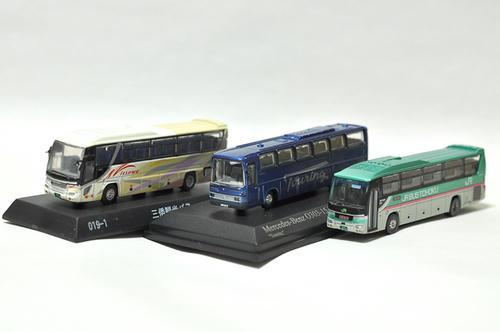京商・ダイキャストバス、トミーテック・バスコレとの比較