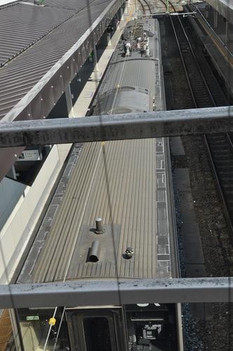 701系の屋根上の様子