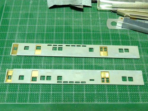 側板裾部の「ヒケ」補修・その2
