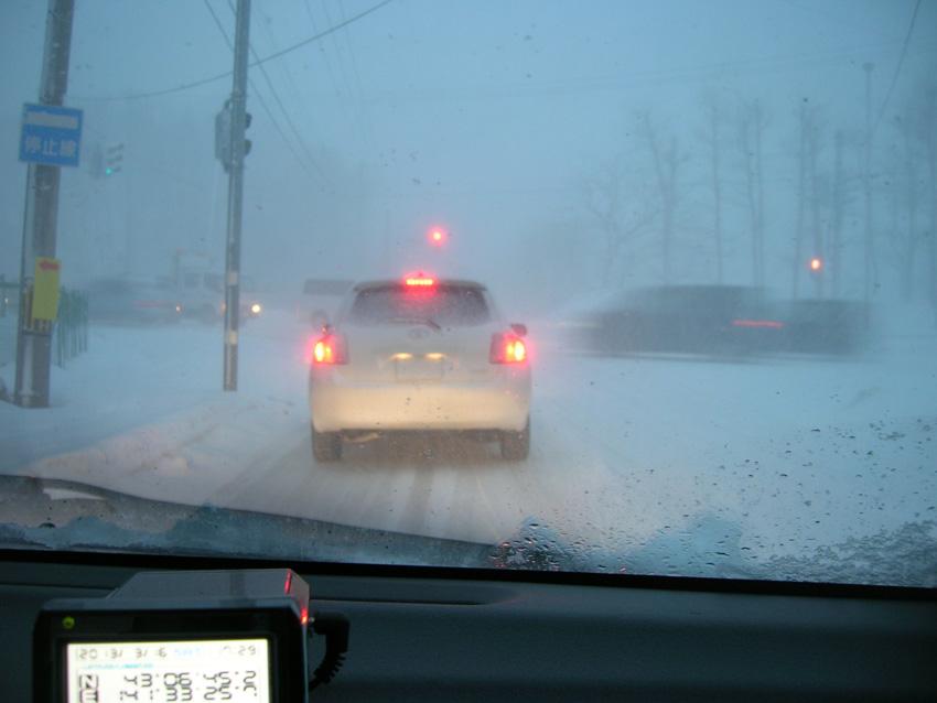 吹雪の中の写真