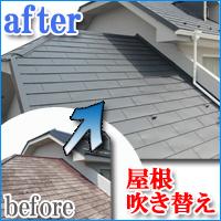 屋根塗装 吹き替え