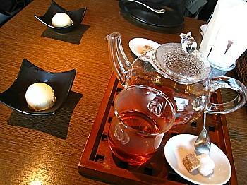ミニシャーベット&紅茶