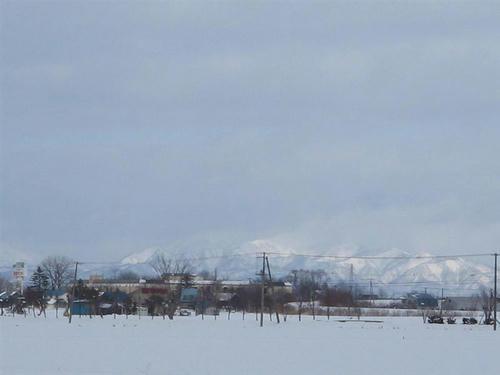 雪山だよ~ 初山別方面