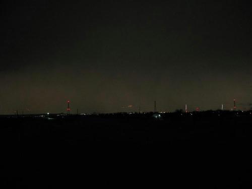 夜景 江別 札幌方面