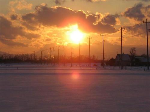 夕陽 1月25日16時18分