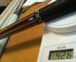 タッドキュー8剣鮫革巻きの重さ