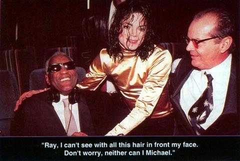 マイケルとレイ・チャールズ。