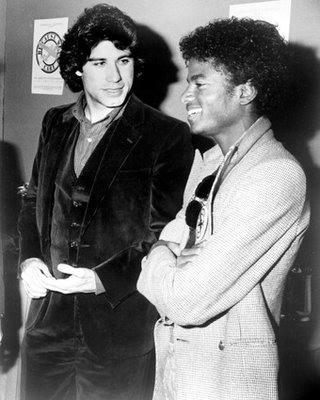 ジョン・トラボルタとマイケル・ジャクソン、1980年。