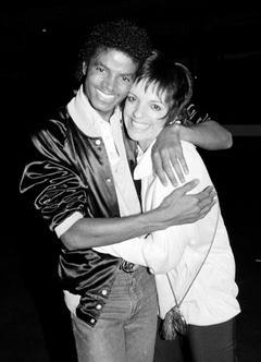 ライザ・ミネリとマイケル・ジャクソン、1981年8月。