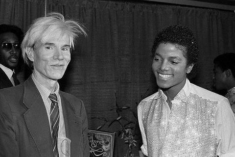 アンディ・ウォーホルとマイケル・ジャクソン、1981年。