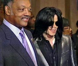 ジェシー・ジャクソン師66歳の誕生パーティに参加したマイケル・ジャクソン