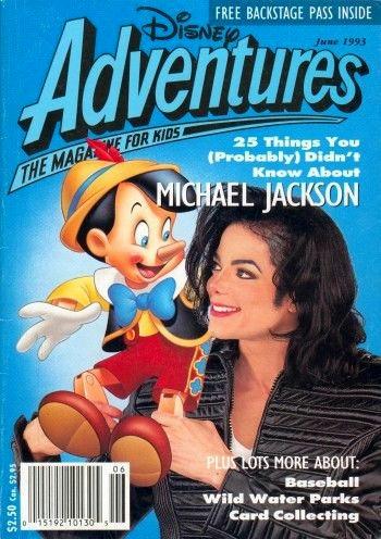 Disney Adventures Magazine 表紙;マイケル・ジャクソン