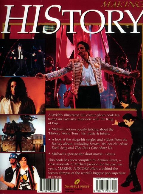 『MAKING HISTORY』、裏表紙。