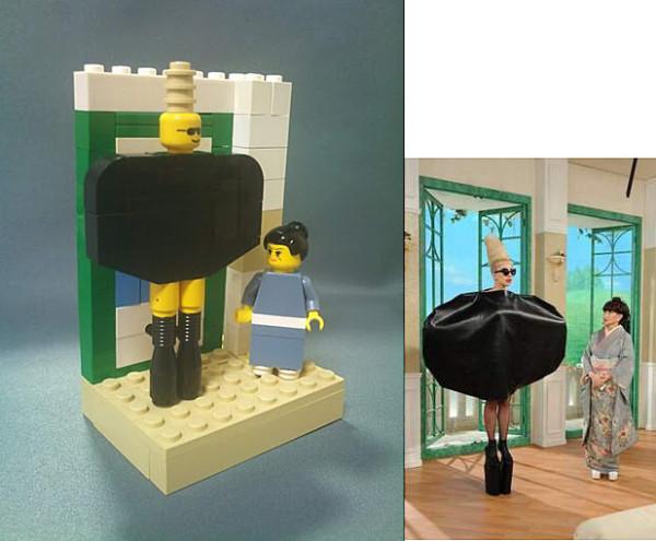 レディ・ガガVS小柳徹子がレゴになった