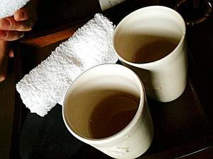 ウェルカムお茶。