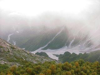 010714_1849_白馬岳山荘・大雪渓方面