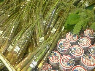 100530_1330_道の駅花の駅千曲川の農産物直売所で販売されている「根曲がり竹」(飯山市)