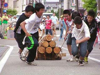 100731_1339_ひのきの里の夏まつり・第22回木馬引き大会(上松町)