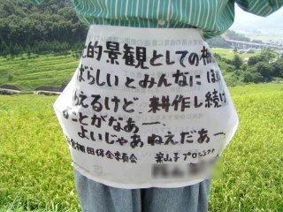 100829_1147_3_稲倉棚田の案山子にこめられた願い(上田市)