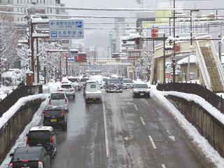 110116_1018_長野市役所前の雪の様子(長野市)