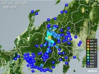 110630_0816_松本市を震源地とする震度5強の地震