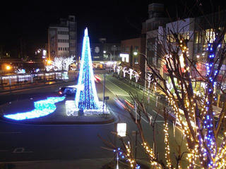 131206_2118_JR駒ヶ根駅前のイルミネーション(駒ヶ根市)