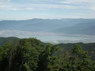 150725_0942_守屋山・西峰から望む諏訪湖(諏訪市)