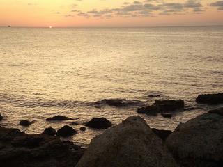 150921_1757_道の駅すず塩田村から望む夕陽(石川県珠洲市)