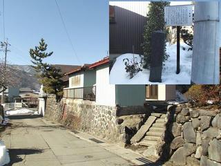 160211_1134_甲州街道一里塚・宮川街歩きマップから(茅野市)