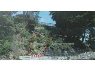 160816_中央構造線 溝口露頭の案内図(伊那市長谷)