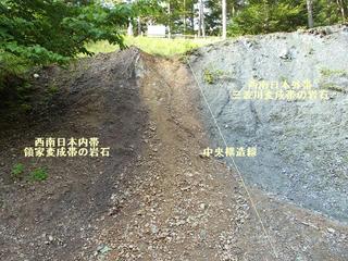160816_1605_中央構造線北川露頭(大鹿村)