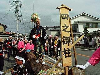 990926_1_沙田神社御柱大祭・里曳き(松本市)