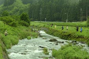 八幡渓流釣り大会