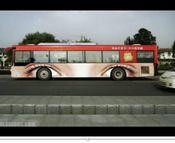 バスの車体広告、色々