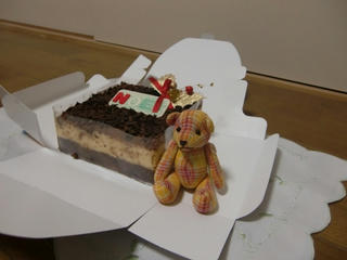 クリスマスケーキとベア