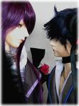 紫VS青。