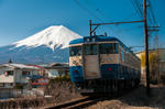 115系 スカ色 富士山