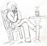 椅子と机と酒と俺