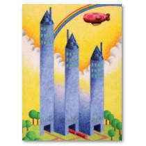 Original unique products 「Building picture - Mysterious building and tower」