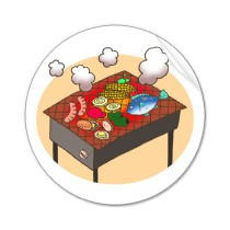 Original unique products 「Food picture - Barbecue」