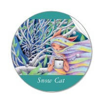 Fairy tale illustration - Snow Cat