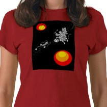 Custom T-Shirts, Gifts, Art & more! 「Japanese art - Drum and monkey」