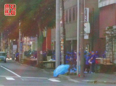 11km給水準備|北海道マラソン