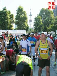 スタート前準備|北海道マラソン