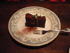 チョコレートのデザート